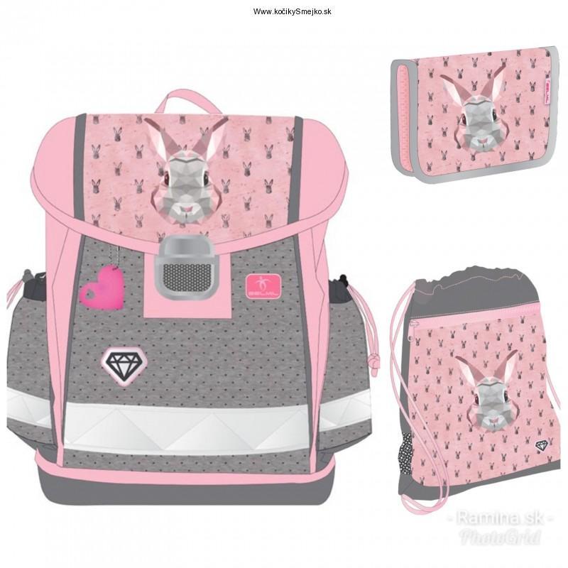 515019b1c2 Školská taška BELMIL Bunny+ Peračník + Vrecúško na prezúvky
